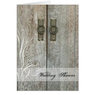 Double Barn Door Country Wedding Shower Invitation