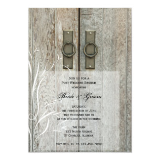 Double Barn Doors Country Post Wedding Brunch Card