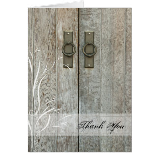 Double Barn Doors Country Thank You Card