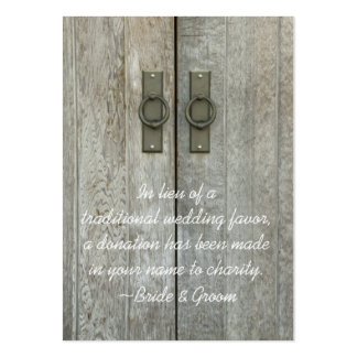 Double Barn Doors Country Wedding Charity Favor Pack Of Chubby Business Cards