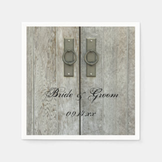 Double Barn Doors Country Wedding Disposable Serviette