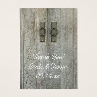 Double Barn Doors Country Wedding Favor Tags Business Card
