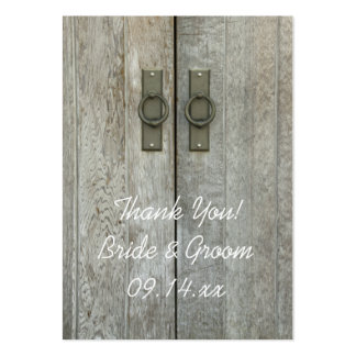 Double Barn Doors Country Wedding Favor Tags Pack Of Chubby Business Cards