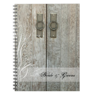 Double Barn Doors Country Wedding Spiral Notebook