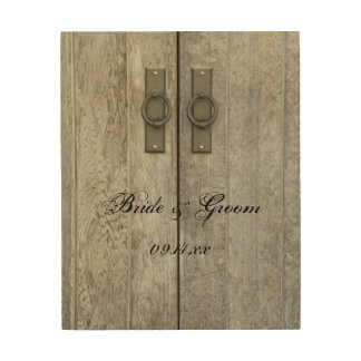 Double Barn Doors Country Wedding Wood Canvas