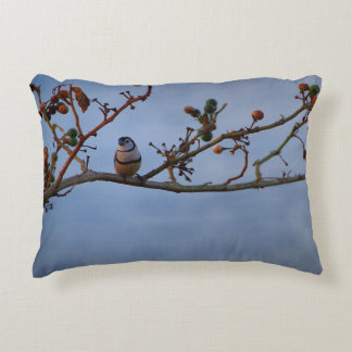 Double-barred finch cushion