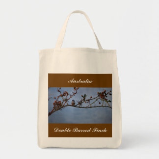 Double-barred finch tote bag