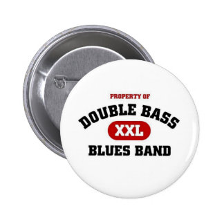 Double Bass Blues Band 6 Cm Round Badge