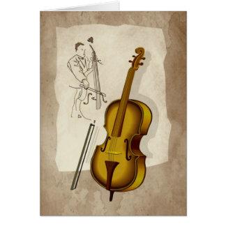 double bass card
