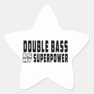 Double bass Is My Superpower Star Sticker