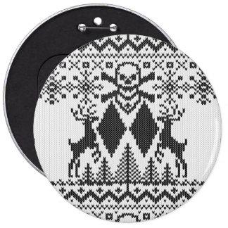 Double Black Diamond Crossbones Extreme Ugly 6 Cm Round Badge