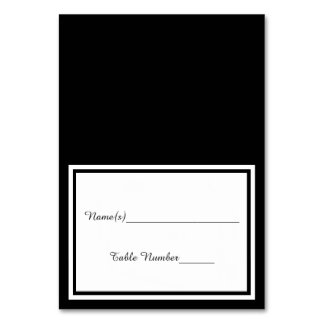 Double Black Trim - Escort Card Table Cards