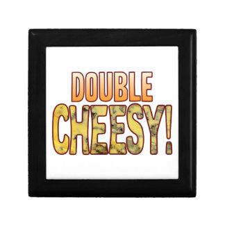 Double Blue Cheesy Small Square Gift Box