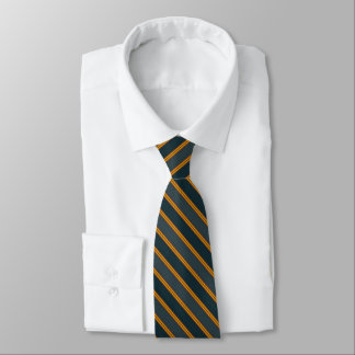 Double Blue Diagonal Stripe Tie