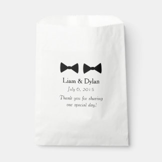 """""""Double Bow Tie"""" Personalised Favour Bags"""