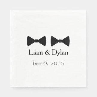 """Double Bow Ties"" Paper Napkins Disposable Napkin"