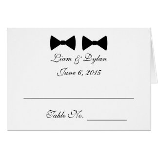 """""""Double Bow Ties"""" Wedding Place Cards"""