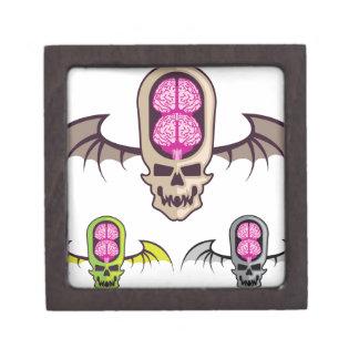 Double brain skull premium trinket boxes