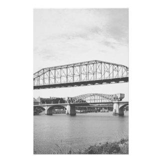Double Bridge Black and White Photography Stationery