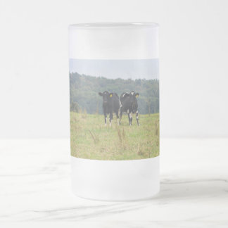 Double Cattle Troube Frosted Glass Beer Mug