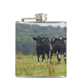 Double Cattle Troube Hip Flask