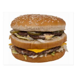 Double Cheese Burger Delite Postcard