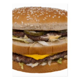 Double Cheese Burger Delite Postcard