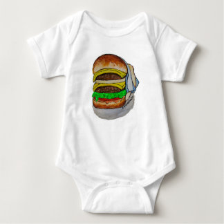 Double Cheeseburger Baby Bodysuit