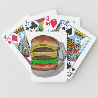 Double Cheeseburger Bicycle Playing Cards