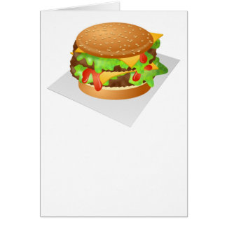 Double Cheeseburger Card