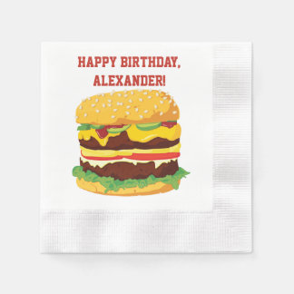 Double Cheeseburger Custom Party Paper Napkins Disposable Napkin