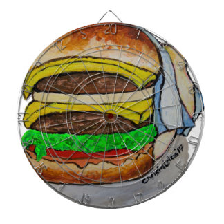 Double Cheeseburger Dartboard
