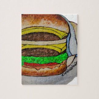 Double Cheeseburger Jigsaw Puzzle
