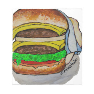 Double Cheeseburger Notepad
