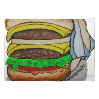 Double Cheeseburger Placemat