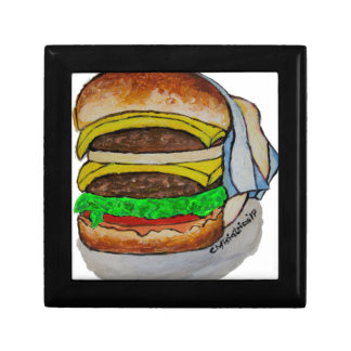 Double Cheeseburger Small Square Gift Box