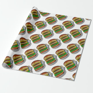 Double Cheeseburger Wrapping Paper