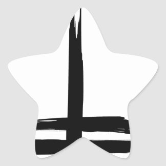 Double cross star sticker