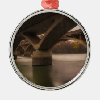 Double Crossing Metal Ornament