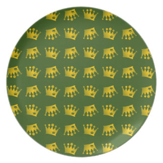 Double Crown Pattern Plate
