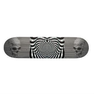 Double Death s Head Skate Board