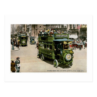 Double Deck Bus, New York City Postcard