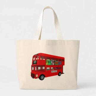 Double-decker bus canvas bags
