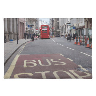Double decker bus in London Placemat