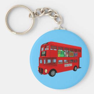 Double-decker bus key chains
