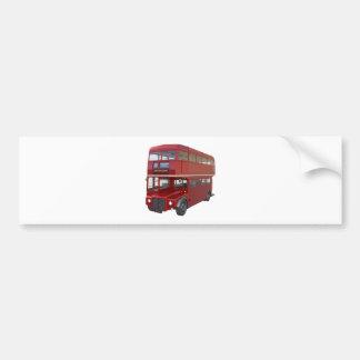 Double Decker Red Bus in Front Profile Bumper Sticker