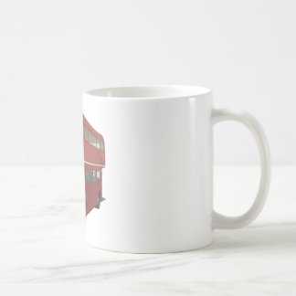Double Decker Red Bus in Front Profile Coffee Mug