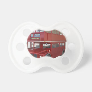 Double Decker Red Bus in Front Profile Dummy