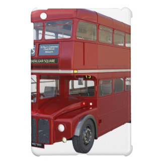 Double Decker Red Bus in Front Profile iPad Mini Case