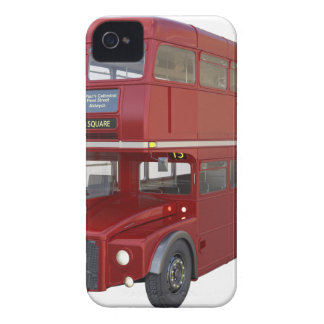 Double Decker Red Bus in Front Profile iPhone 4 Covers